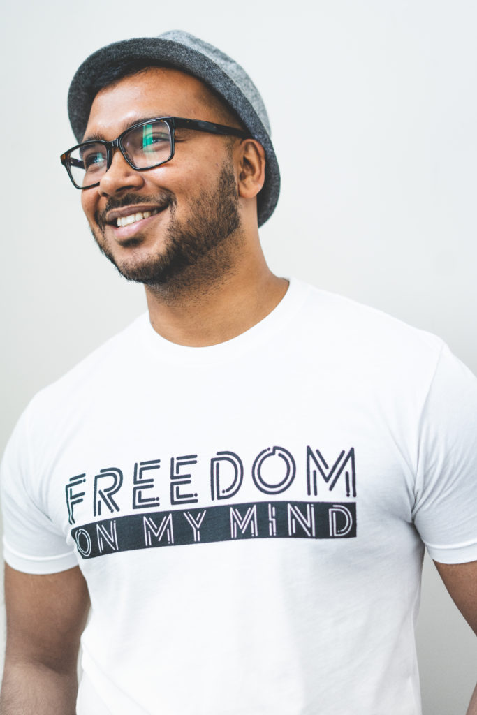 Freedom On My Mind Men's White Tee