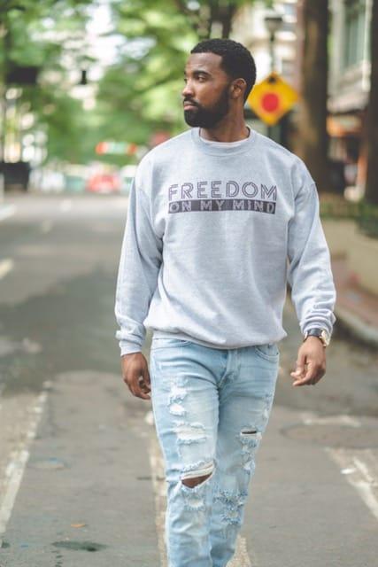 Freedom On My Mind Men's Grey Sweatshirt